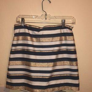 J. Crew Metallic Striped Skirt